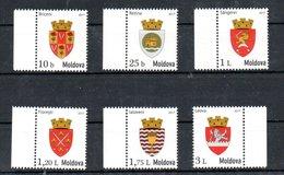 Moldavia Moldova Coat Of Arms 2017 MNH Michel 991-996 - Moldova