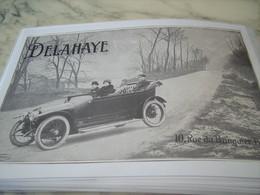 ANCIENNE PUBLICITE 10 RUE DES BANQUIER PARIS DELAHAYE 1914 - Voitures