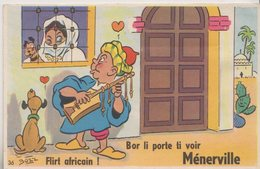 CPA  A SYSTEME BOZZ    VUES DEPLIANTES  MENERVILLE (4) THENIA  ALGERIE  FLIRT AFRICAIN - Andere Städte