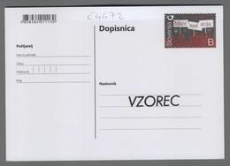C4472 SLOVENIA Postal Stationery 70 LET OD ODLOCITVE ZA LJUDSKO REPUBLIKO SLOVENIJO B Postcard - Slovenia