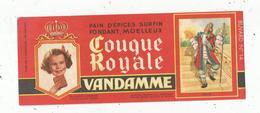 Buvard ,pain D'épices ,COUQUE ROYALE , VANDAMME ,n° 14 , Louis XIV, Frais 1.55 E - Alimentaire