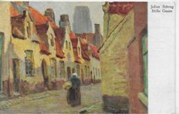 AK 0188  Schrag , Julius - Stille Gasse / Künstlerkarte Ca. Um 1925 - Malerei & Gemälde