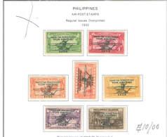 Filippine Posta Aerea  1932  USA Planes  Scott.C 29/35+See Scan On Scott.Page; - Filippine