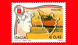 Nuovo - MNH - ITALIA - 2006 - Regioni D'Italia - Toscana - 0.45 - 6. 1946-.. República