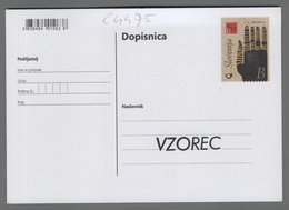C4475 SLOVENIA Postal Stationery FESTIVAL MARIBOR BORSTNIKOVO THEATRE B Postcard - Slovenia