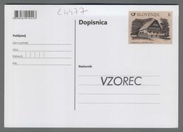 C4477 SLOVENIA Postal Stationery POSTARSKI DOM POD PLESIVCEM 60 LET B Postcard Cartolina Postale - Slovenia