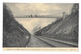 """Cpa: 37 Château LA BORDE - JOUE LEZ TOURS - Passerelle Du Parc Et Train """"Sud Expess"""" - Other Municipalities"""