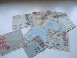 Jugoslawien SHS 1921 Paketkarten 24 Stück Mit Interessanten Frankaturen Und Klebezettel Und Stempel! - 1919-1929 Königreich Der Serben, Kroaten & Slowenen