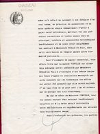 """Papier Timbré De Notaire Perforé """" CHAUVEAU """" De 1922, Avec Timbres Humide Et Sec - France"""
