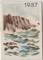 1937 Calendrier De Poche Offert Par La Crème Eclipse Illustré Par Grosjean - Calendriers