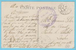 G.B. 01 - CPA Avec Cachet De Franchise- N° 54 - Croix Rouge Française - Hôpital Auxi. N° 88 De Gentilly (94) - Guerre 1914-18