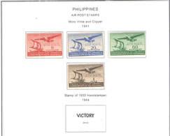 Filippine Posta Aerea  1941  USA Moro Vinta Clipper New  Scott.C 59/62+See Scan On Scott.Page; - Filippine