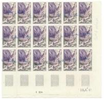 ALGERIE  SURCHARGE EA / 10-13 B B (ORLEANSVILLE) ** EN BLOC DE 18 COIN DATE 30 JUIN 1961 - Algérie (1924-1962)