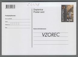 C4478 SLOVENIA Postal Stationery MEDNARODNA SPELEOLOSKA SVEZA INTERNATIONAL UNION OF SPELEOLOGY 0.56 Postcard Speologia - Slovenia
