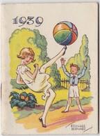 1939 Calendrier De Poche Offert Par La Crème Eclipse Illustré Par Edouard Bernard ( Enfants Jeu Football ) - Calendriers