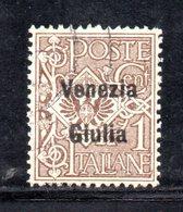 XP4181 - VENEZIA GIULIA 1918, Sassone N. 19  Usato. Annullo Leggero - Occupation 1ère Guerre Mondiale