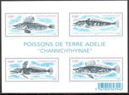 TAAF - 2015 - BF Poissons De Terre Adélie Channichthyinae ** - Blocks & Sheetlets