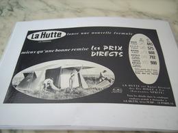 ANCIENNE PUBLICITE UNE FORMULE MAGASIN LA HUTTE 1960 - Publicité