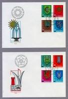 Switzerland Helvetia 1980 & 1981 2 X FDC Pro Juventute Municipality Coat Of Arms Gemeindewappen - Pro Juventute