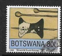 BOTSWANA  1996 Traditional Weapons  Shield, Knob-kerries  USED - Botswana (1966-...)