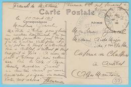 G.B. 01 - CPA Avec Cachet De Franchise- N° 57 - Etablissement Militaire Station Thermale - Evaux Les Bains (23) - Guerre 1914-18
