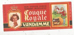 Buvard ,pain D'épices ,COUQUE ROYALE , VANDAMME ,n° 12 , HENRI IV , Frais 1.55 E - Alimentaire