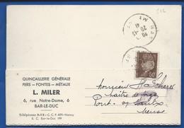 Carte A Entête D'Entreprise  Quincaillerie : L.MILER    6 Rue Notre Dame  BAR-LE-DUC      écrite En 1941 - Bar Le Duc