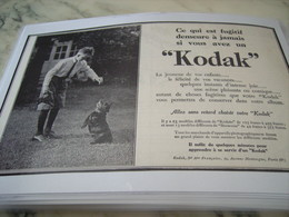ANCIENNE PUBLICITE 2 MINUTES POUR APPRENDRE A SE SERVIR D UN KODAK 1923 - Photographie