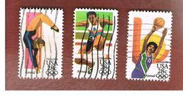 STATI UNITI (U.S.A.) - SG A2034.A2036 -  1983 AIR: OLYMPIC GAMES                     - USED - Luftpost
