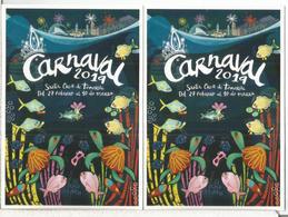 ESPAÑA 2 ENTERO POSTAL TARIFA A Y B CARNAVAL TENERIFE 2019 CARNIVAL - Carnavales