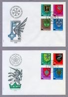 Switzerland Helvetia 1978 & 1979 2 X FDC Pro Juventute Municipality Coat Of Arms Gemeindewappen - Pro Juventute