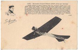 TRANSPORT AVIATION Monoplan Esnault PELTERIE (REP) Piloté Par AMERIGO Modèle Militaire Empennage Queue De Pigeon - ....-1914: Precursors