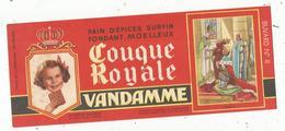 Buvard ,pain D'épices ,COUQUE ROYALE , VANDAMME ,n° 8 , CHARLES VII , Frais 1.55 E - Alimentaire