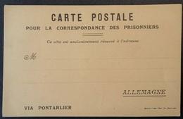 Carte De Franchise Militaire Pour Prisonnier De Guerre En Allemagne éditée à Meaux - Marcophilie (Lettres)