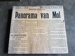 Boek: Panorama Van Mol 1974 Paul Vos John Wynen (251 Blz ; 28 X 31 Cm) Moll - Mol