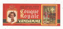 Buvard ,pain D'épices ,COUQUE ROYALE , VANDAMME ,n° 9 , LOUIS XI , Frais 1.55 E - Alimentaire