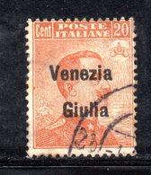 XP4189 - VENEZIA GIULIA 1918, Sassone N. 23  Usato. - Occupation 1ère Guerre Mondiale