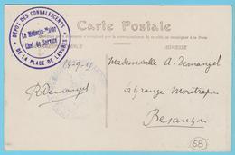 G.B. 01 - CPA Avec Cachet De Franchise- N° 58 - Dépôt De Convalescents De La Place De Langres (52) - Guerre 1914-18