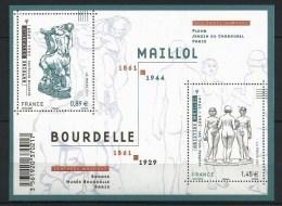 "FR Bloc YT F4626 Feuille "" Sculptures A. Bourdelle "" 2011 Neuf** - France"