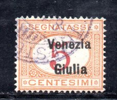XP4196 - VENEZIA GIULIA 1919, Segnatasse Sassone  N. 1  Usato. - Occupation 1ère Guerre Mondiale