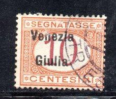 XP4198 - VENEZIA GIULIA 1919, Segnatasse Sassone  N. 2  Usato. - Occupation 1ère Guerre Mondiale