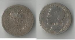 BELGIQUE 1/2  FRANC  1844  ARGENT - 1831-1865: Léopold I