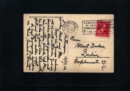 Belgium 1936 Interesting Ship Postcard - Belgien