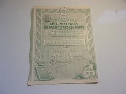 EAUX MINERALES DU BASSIN D'AIX LES BAINS (1905) SAVOIE - Non Classificati