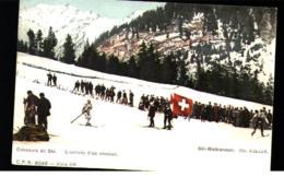 CONCOURS DE SKI - L'ARRIVEE D'UN COUREUR - SKI WETTRENNEN - Winter Sports
