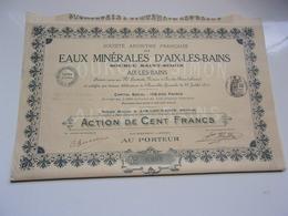EAUX MINERALES D'AIX LES BAINS Source Saint Simon (1911) Savoie - Non Classificati