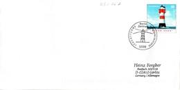 """BRD Amtl.GZS-Umschlag (Langformat) USo 76A ,WSt 55(C) """"Leuchtturm Roter Sand"""" ESSt 8.7.2004 BERLIN ZENTRUM - BRD"""