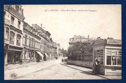 Arlon. Place De La Gare. Avenue Des Voyageurs. Hôtel Du Commerce. Hôtel De La Marne. Kiosque à Journaux. - Arlon