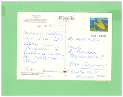AUSTRALIA 1984 AIR MAIL POSTCARD WITH 1 STAMP TO SWISS - Covers & Documents