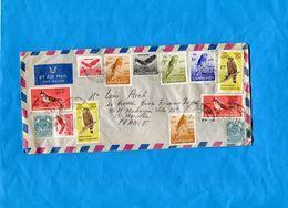 MARCOPHILIE- BIRMANIE-Union Of Burma-Lettre >France-cad 1972-113 Stamps Oiseaux Coutumiers - Timbres